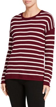 Striped Long-Sleeve Cashmere Sweater
