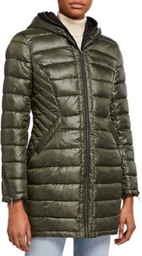 Puffer Coat with Zip-Out Bib
