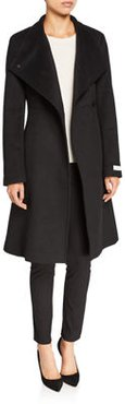 Wool-Blend O-Ring Long-Sleeve Coat