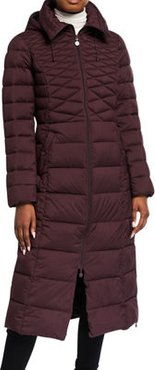 Quilted Long Hooded Coat