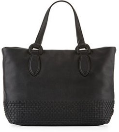 Bethany Small Woven Leather Tote Bag
