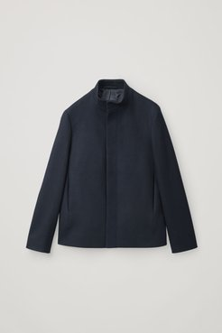 FUNNEL-NECK WOOL-CASHMERE JACKET