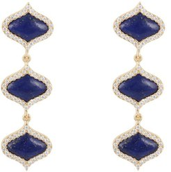 Lattice Earrings Lapis Lazuli