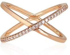 Katia Superfine Single Crossover Ring Yellow Gold