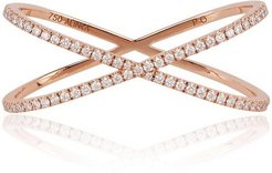 Katia Duo Crossover Two-finger Ring Rose Gold