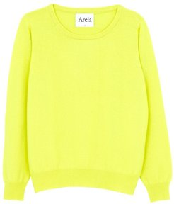 Laine Cashmere Sweater In Bright Yellow