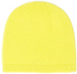 Nao Cashmere Beanie In Bright Yellow