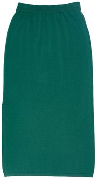 Kelly Cashmere Skirt In Sage Green