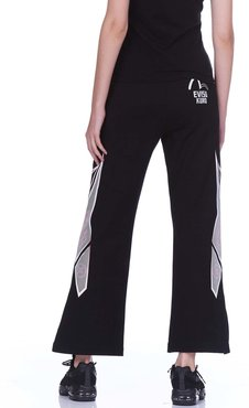 Wide-legged Sweatpants With Racing Pattern