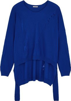 Blue Wool-blend Jumper