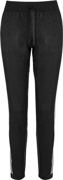 ID Black Knitted Stretch-jersey Sweatpants