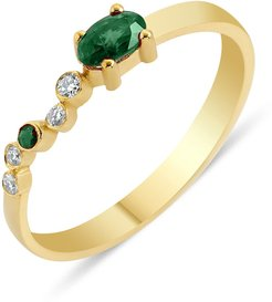 Seraphina Emerald Wing Ring