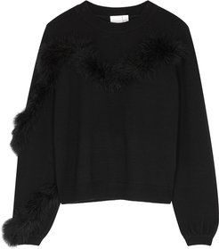 IN. NO Florence Feather-trimmed Wool Jumper