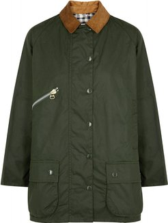 Edith Forest Green Waxed Cotton Jacket