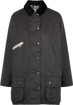 Edith Anthracite Waxed Cotton Jacket