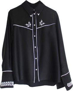 Embroidered Cowboy Shirt (black)