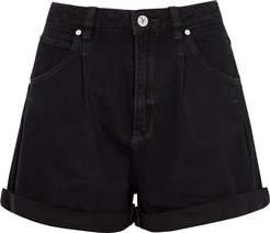 A Miami Black Denim Shorts