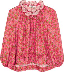 Aida Red Floral-print Blouse