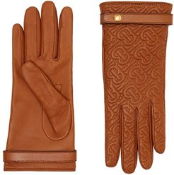 Cashmere-lined Quilted Monogram Lambskin Gloves