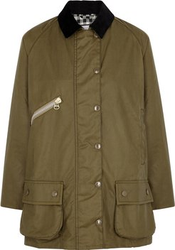 Edith Olive Waxed Cotton Jacket
