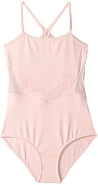 X-Back Camisole Leotard (Toddler/Little Kids/Big Kids) (Candy Pink) Girl's Jumpsuit & Rompers One Piece