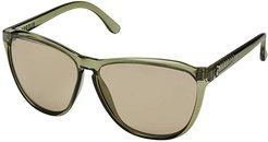Encelia (Gloss Olive/OHM Light Bronze) Fashion Sunglasses