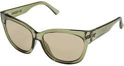 Danger Cat Polarized (Gloss Olive/OHM Vintage Green) Fashion Sunglasses