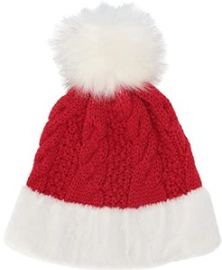 Santa Hat with Faux Fur Trim (Red) Beanies