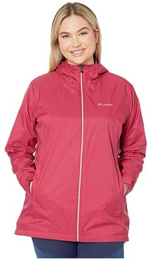Plus Size Switchbacktm Lined Long Jacket (Red Orchid/Red Orchid) Women's Coat