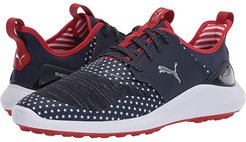 Ignite NXT Lace Patriot Pack (Peacoat/Puma White/High Risk Red) Men's Golf Shoes