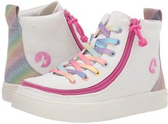 Classic Lace High (Toddler/Little Kid/Big Kid) (White Rainbow) Girls Shoes