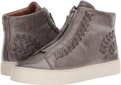 Lena Whip Zip High (Grey Antique Pull Up) Women's Lace up casual Shoes