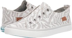 Play (Off-White Zebra Print Linen) Women's Lace up casual Shoes