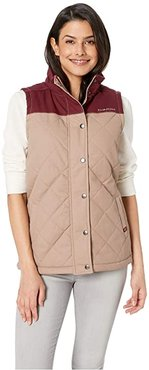 Quilted Polyfill Vest (Brown) Women's Vest