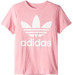 Trefoil Tee (Little Kids/Big Kids) (Light Pink/White) Kid's T Shirt