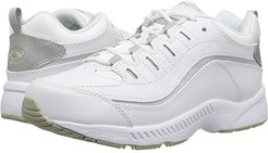 Romy (White/Light Grey Leather) Women's Walking Shoes