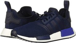NMD_R1 J (Big Kid) (Navy/Active Blue) Kids Shoes