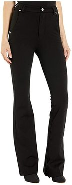 Ponte High-Rise Flare (Caviar) Women's Casual Pants