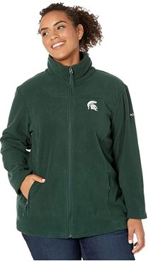 Plus Size Michigan State Spartans CLG Give and Gotm II Full Zip Fleece Jacket (Spruce) Women's Fleece