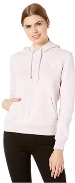 Embroidered Fleece Pullover Hoodie (Barely Rose) Women's Clothing