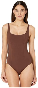 Color Code Olivia Square Neck One-Piece (Bronze) Women's Swimsuits One Piece