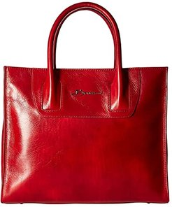 Old Leather Tote (Red) Handbags