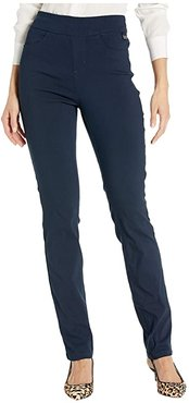 Stretch Bengaline Pull-On Slim Leg in Navy (Navy) Women's Jeans
