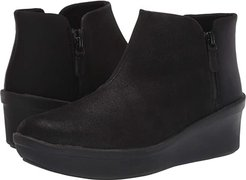 Step Rose Up (Black Textile) Women's  Boots