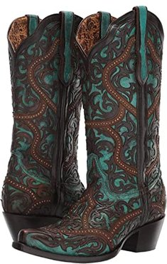 G1415 (Turquoise/Brown) Women's Boots