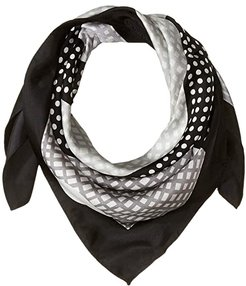 Check It Out Silk Square Scarf (Black) Scarves