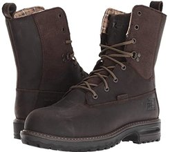 Hightower 8 Safety Toe WP 600g Insulated (Brown Distressed) Women's Work Boots