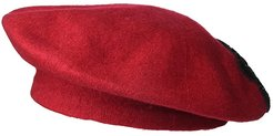 Applique Melton Beret (Red) Caps