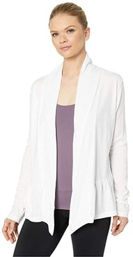 Carrie Wrap (White) Women's Sweater
