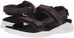 X-Trinsic Strap Sandal (Black/Teaberry) Women's Sandals